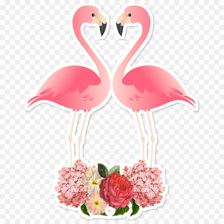 Flamingo Burung Kertas Gambar Png