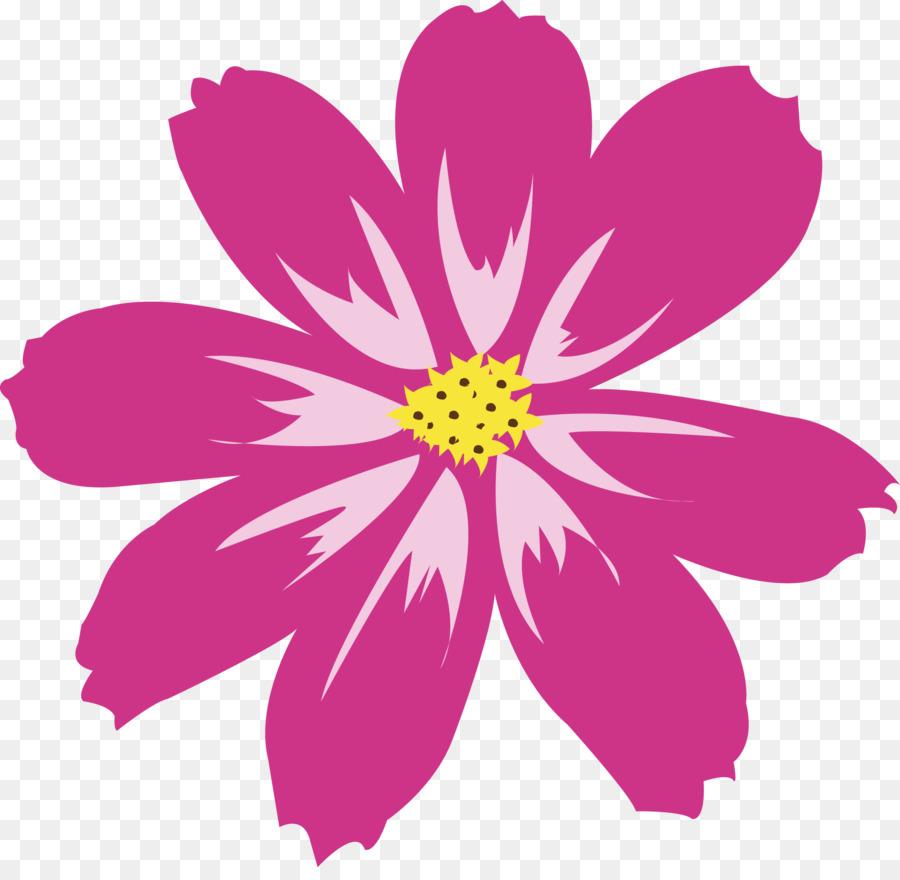 Bunga Aster Bunga Merah Muda Gambar Png