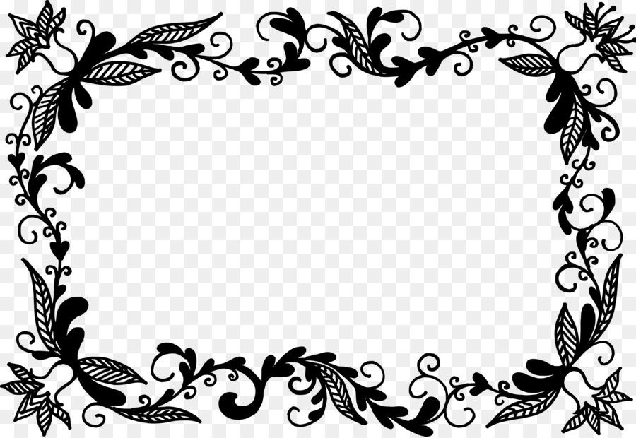 bingkai foto bunga hitam dan putih gambar png bingkai foto bunga hitam dan putih