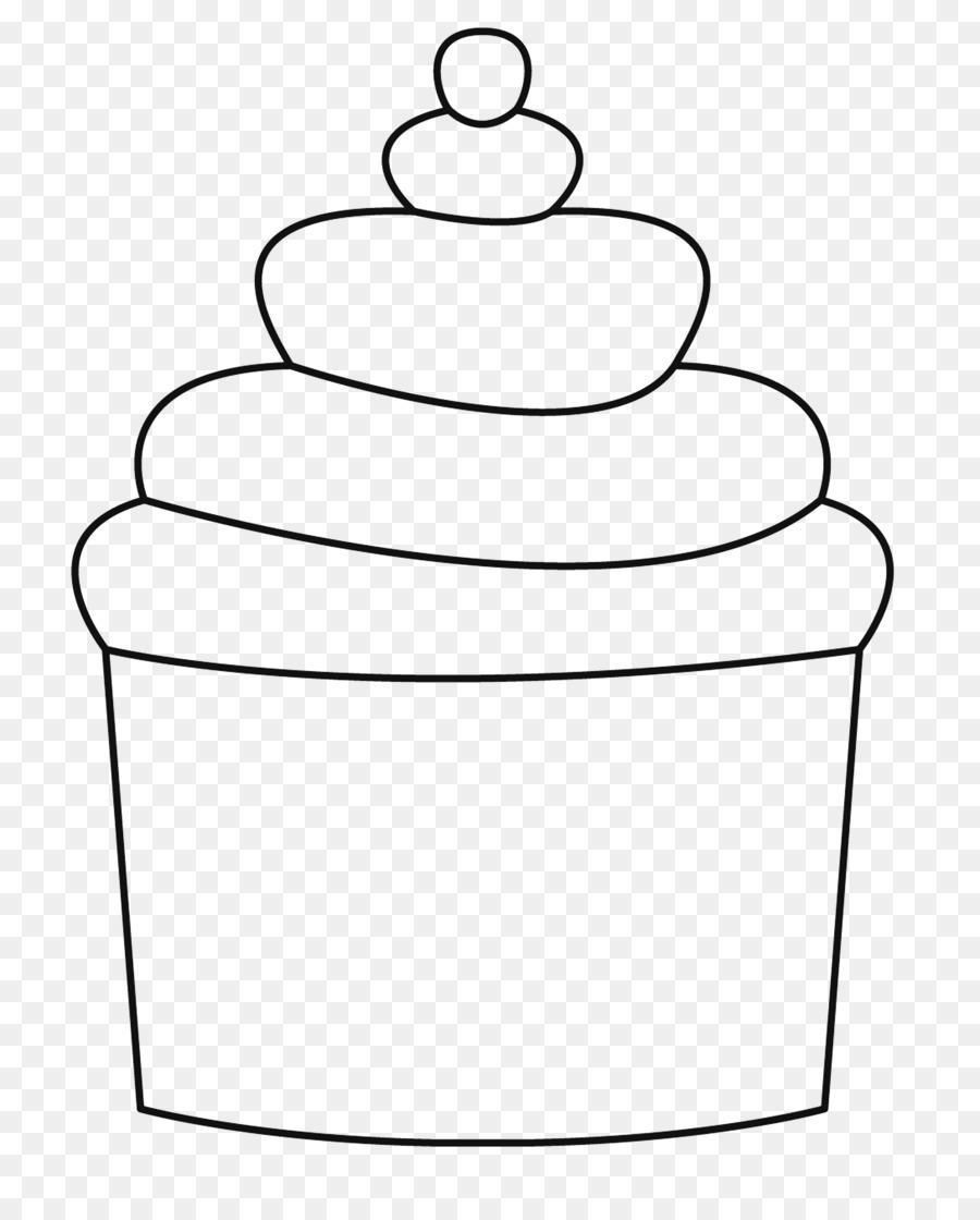 Cupcake Madeleine Buku Mewarnai Gambar Png