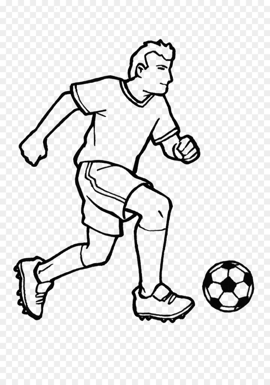 Sepak Bola Buku Mewarnai Hitam Dan Putih Gambar Png