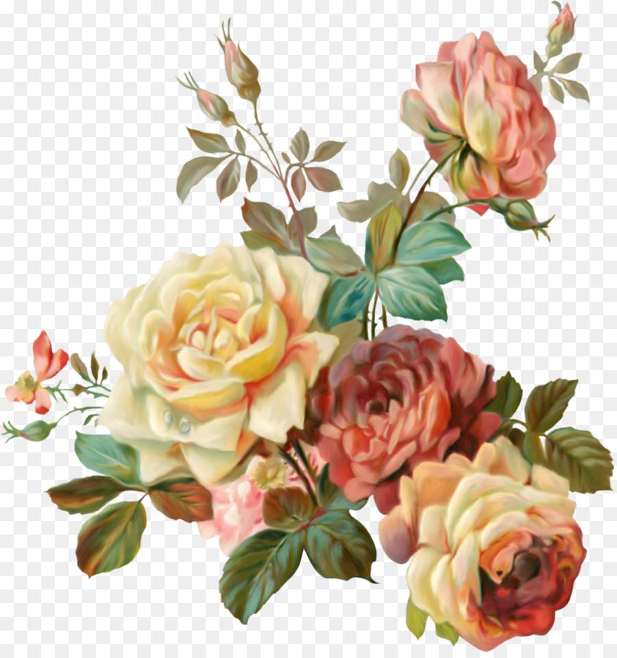 Bunga Taman Mawar Pakaian Vintage Gambar Png