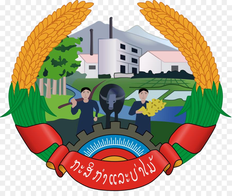 Laos Kementerian Pertanian Dan Kehutanan Lambang Negara Laos Gambar Png