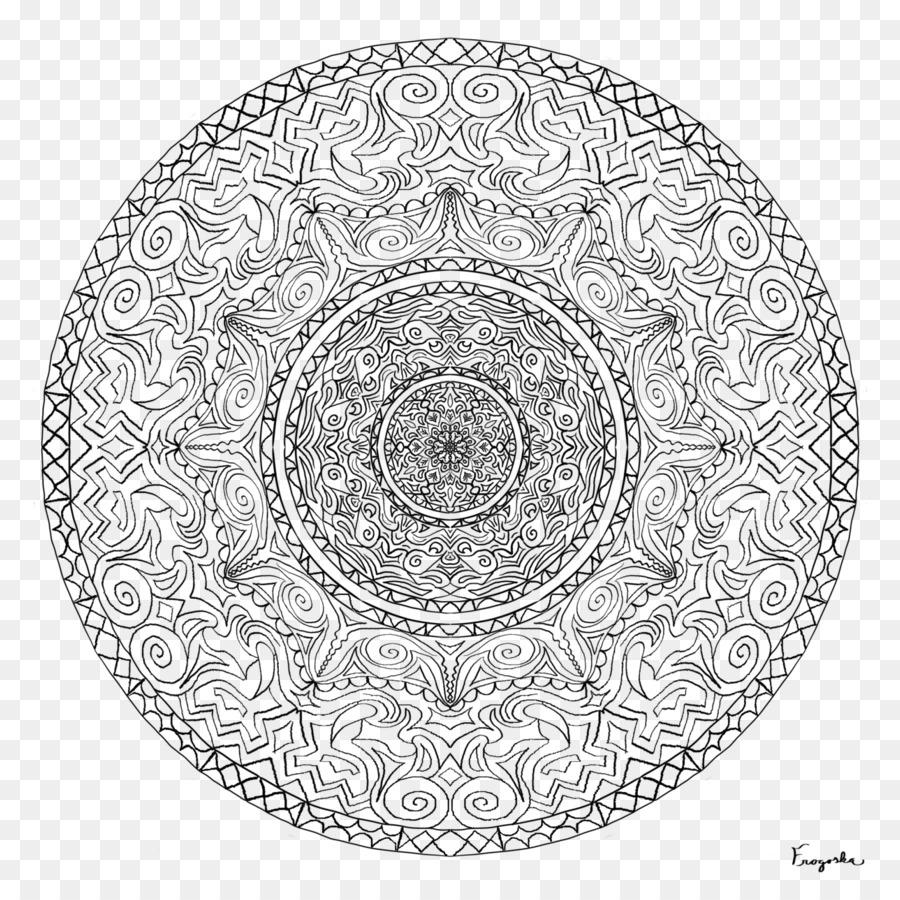 Mandala Buku Mewarnai Seni Gambar Png