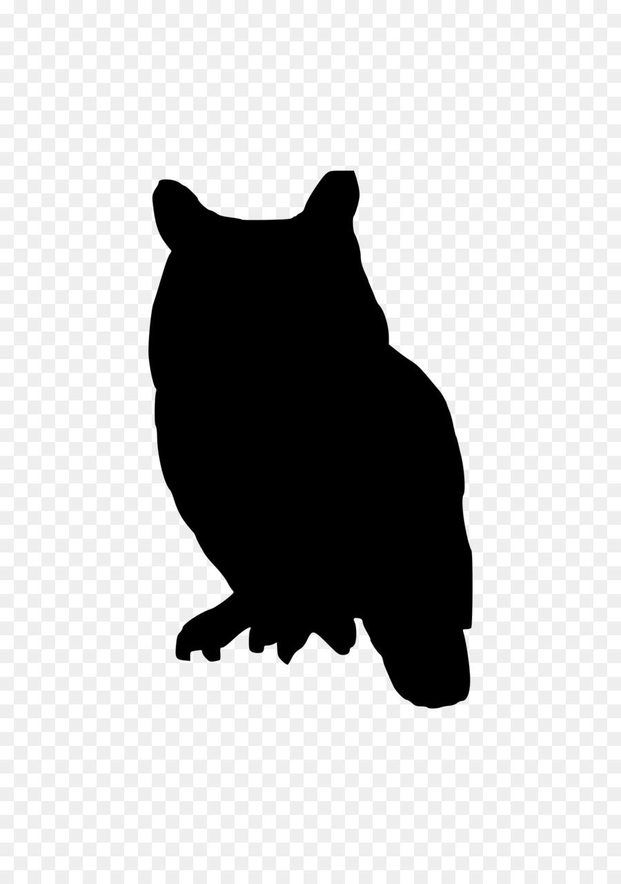 Burung Hantu Siluet Desain Grafis Gambar Png