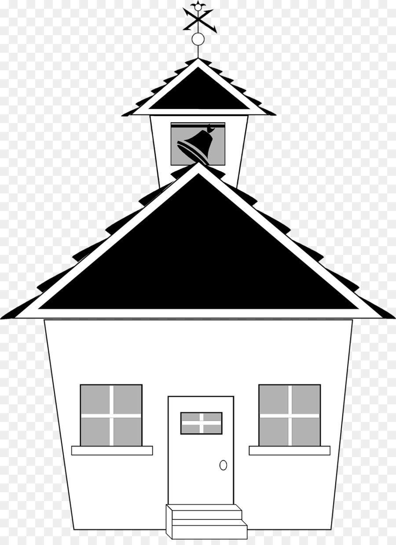 Sekolah Hitam Dan Putih Bangunan Gambar Png