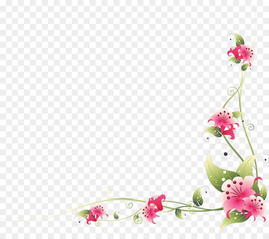 Bingkai Foto Bunga Ornamen Bunga Gambar Png