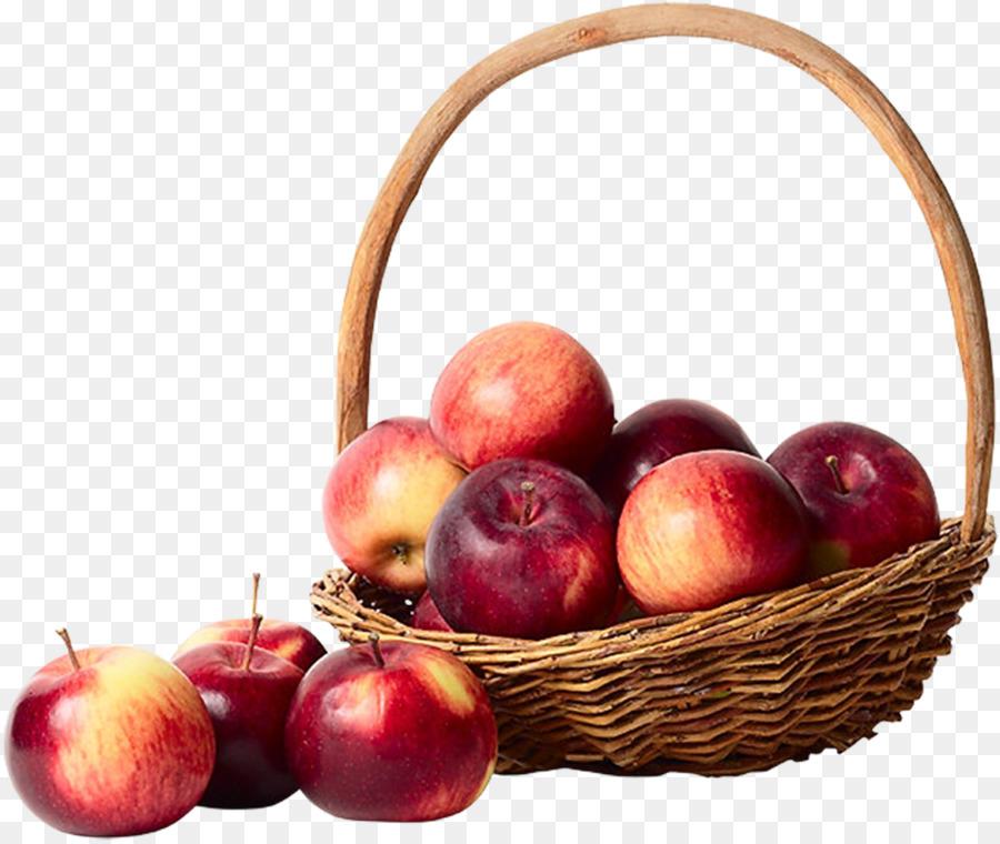 Apple Keranjang Buah Gambar Png
