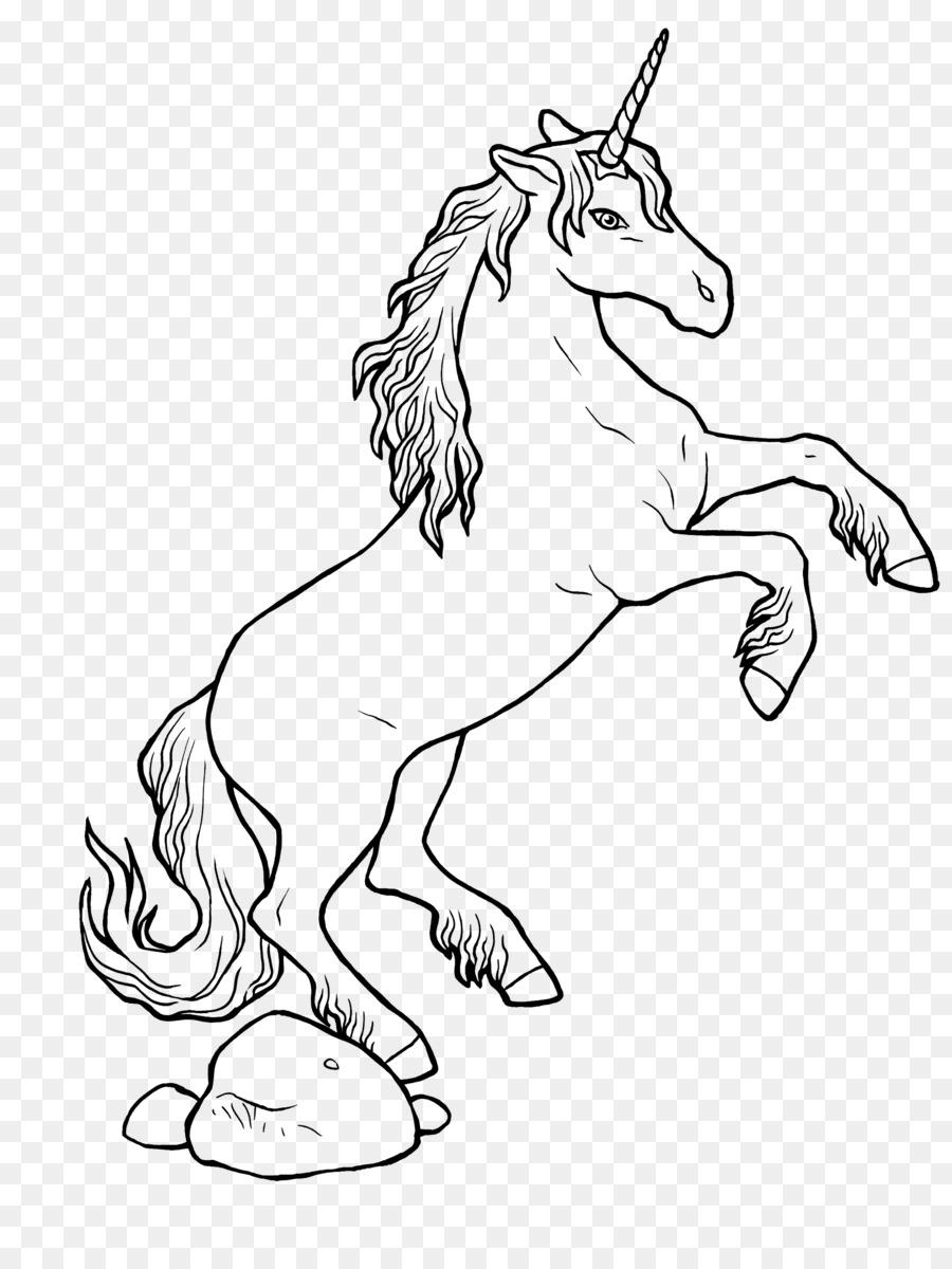Mewarnai Gambar Unicorn Buku Mewarnai Gambar Png
