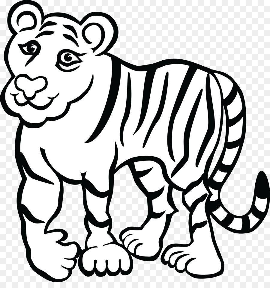 Buku Mewarnai Harimau Benggala Dewasa Gambar Png
