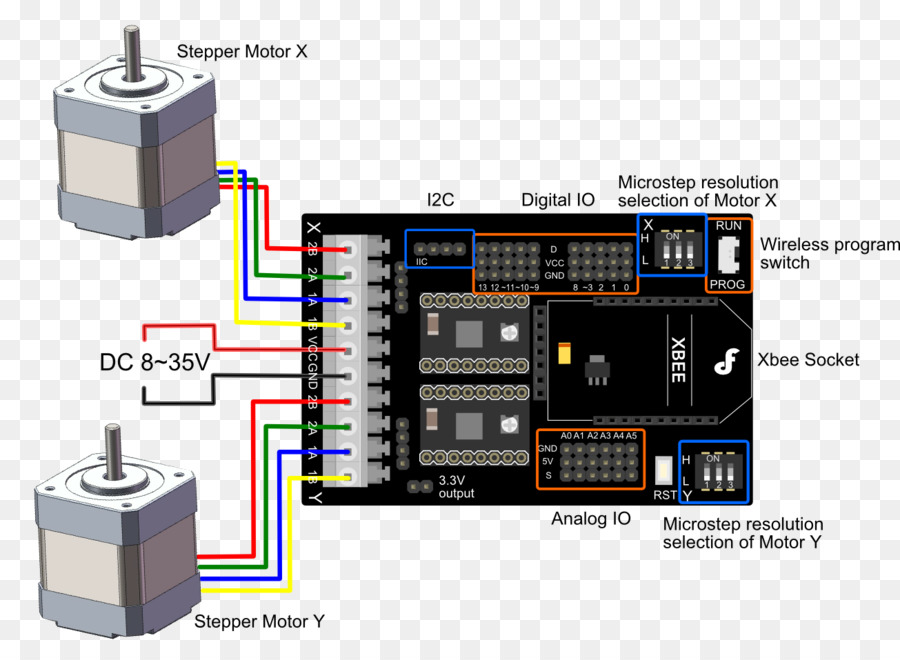 Arduino Stepper Motor Wiring Diagram from img2.pngdownload.id