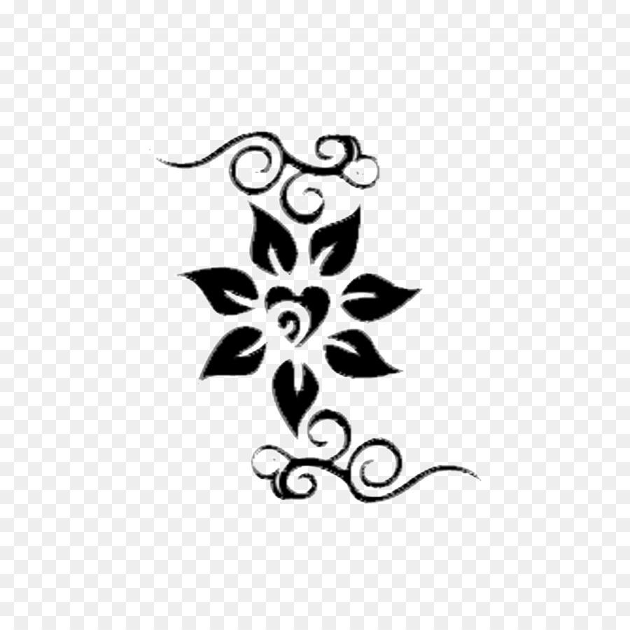 Desain Bunga Hitam Dan Putih Bunga Gambar Png