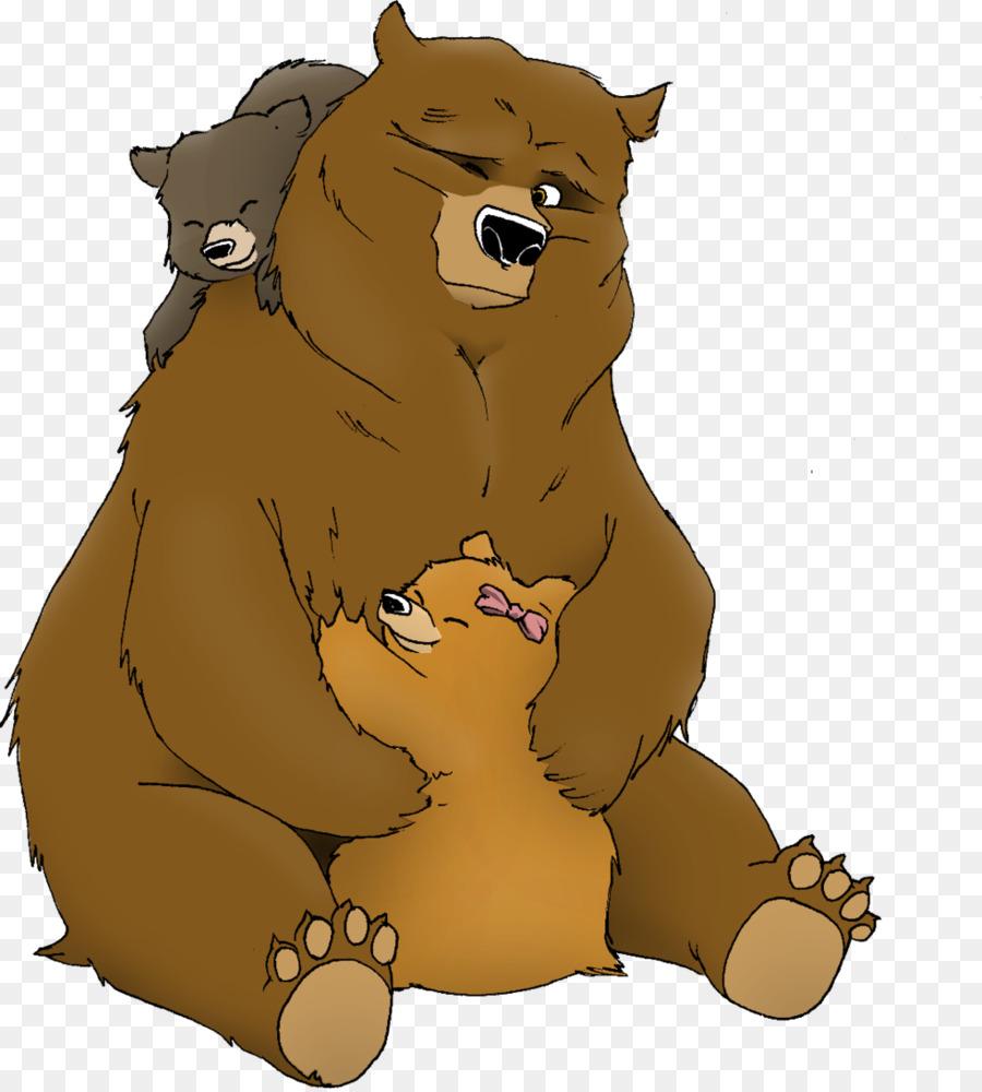 Beruang Beruang Hitam Amerika Kartun Gambar Png