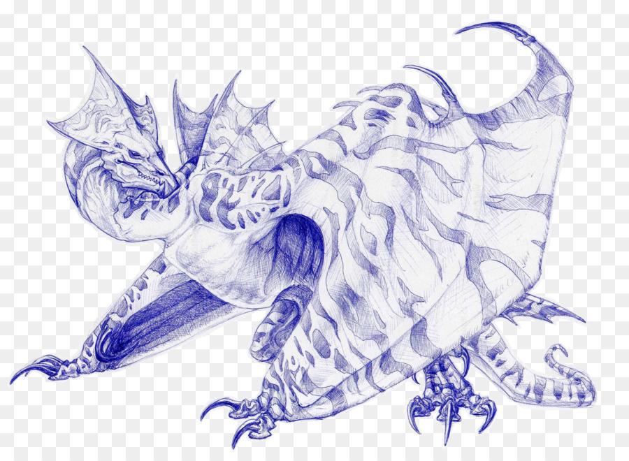 kisspng dragon drawing wyvern art sketch totem tattoo 5adbb6d7d1bf62.9295866015243486318591