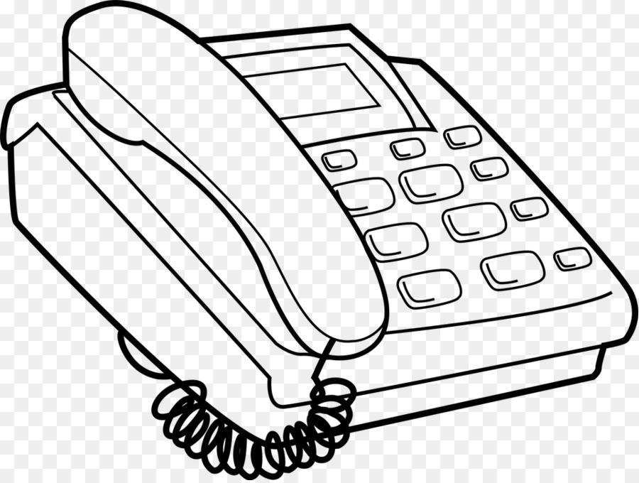 Telepon Tombol Tekan Telepon Buku Mewarnai Gambar Png
