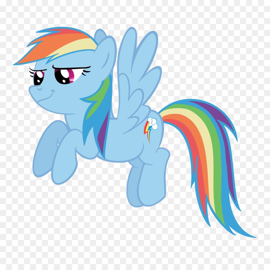 Seni Pelangi Dash Pony Gambar Png