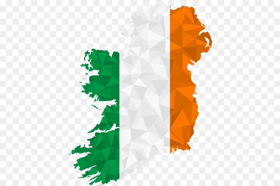 Bendera Irlandia Republik Irlandia Peta Gambar Png