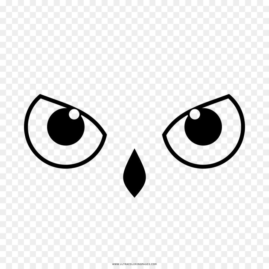 Burung Hantu Mata Buku Mewarnai Gambar Png
