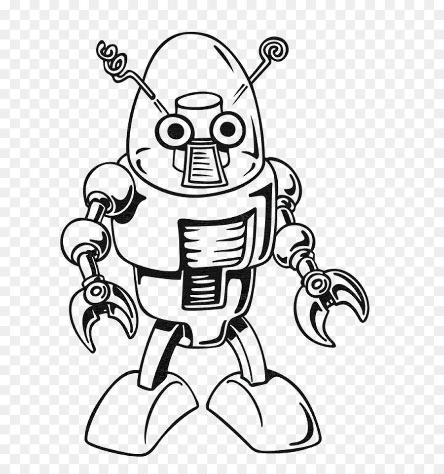Buku Mewarnai Robot Warna Gambar Png