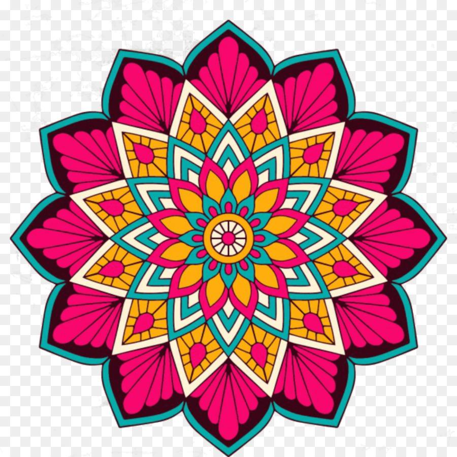 Mandala Agama Hindu Mewarnai Mandala Bunga Gambar Png