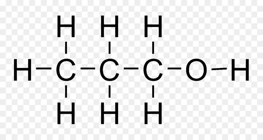 1propanol Struktur Lewis Rumus Struktur Gambar Png
