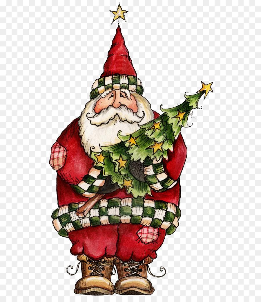 Santa Claus Natal Fullcolor Liburan Sketsa Gambar Png