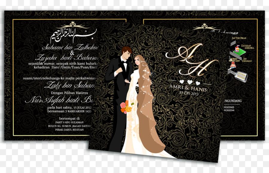 Undangan Pernikahan Pernikahan Pengantin Gambar Png