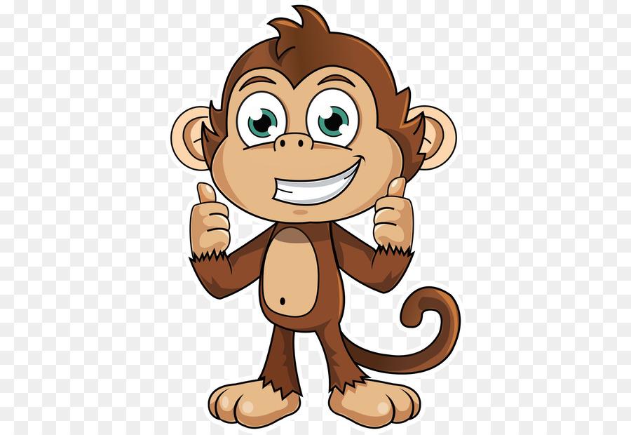 Gambar Monyet Animasi Png Monyet Stiker Animasi Gambar Png