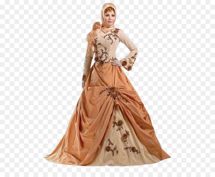 Gaun Pengantin Gaun Muslim Gambar Png