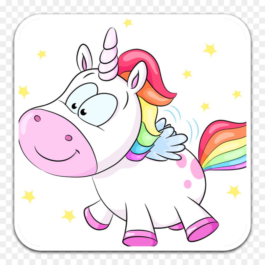 Kartun Unicorn Royaltyfree Gambar Png