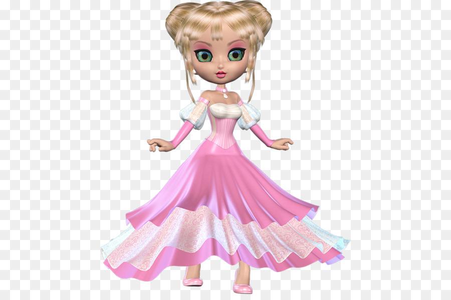 Barbie Karakter Pink M Gambar Png