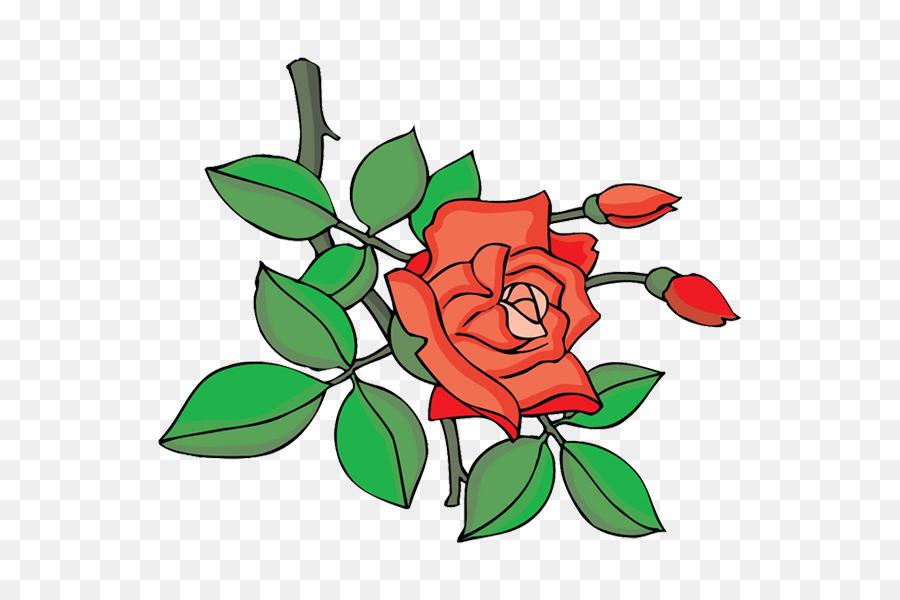 Taman Mawar Kartun Desain Bunga Gambar Png