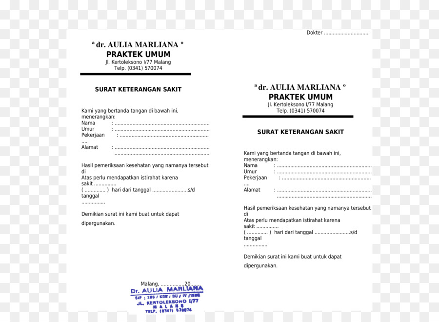 Dokumen Dokter Surat Gambar Png
