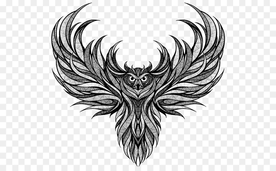 Burung Hantu Gambar Desain Grafis Gambar Png