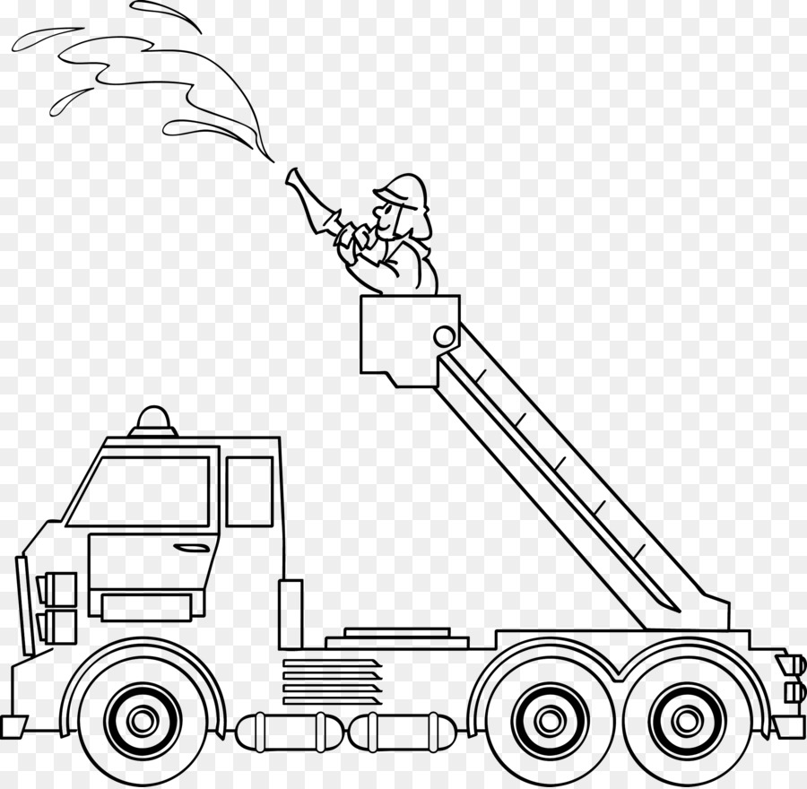Mewarnai Gambar Pemadam Kebakaran Petugas Pemadam Kebakaran Gambar Png