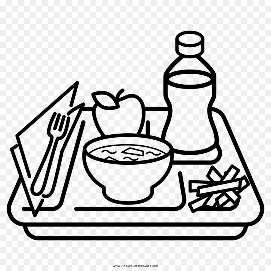 Nampan Makanan Buku Mewarnai Gambar Png