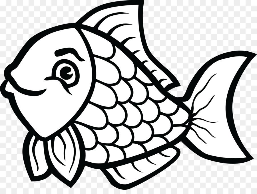 Buku Mewarnai Ikan Hitam Dan Putih Gambar Png
