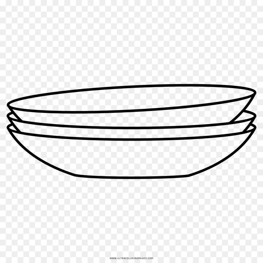 Buku Mewarnai Hidangan Piring Gambar Png