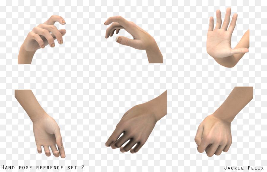 Jempol Model Tangan Seni Gambar Png