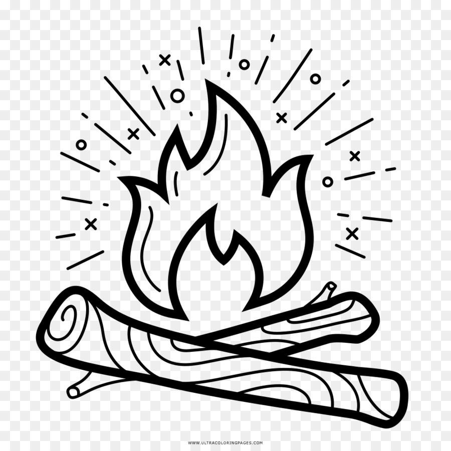 Gambar Buku Mewarnai Api Unggun Gambar Png