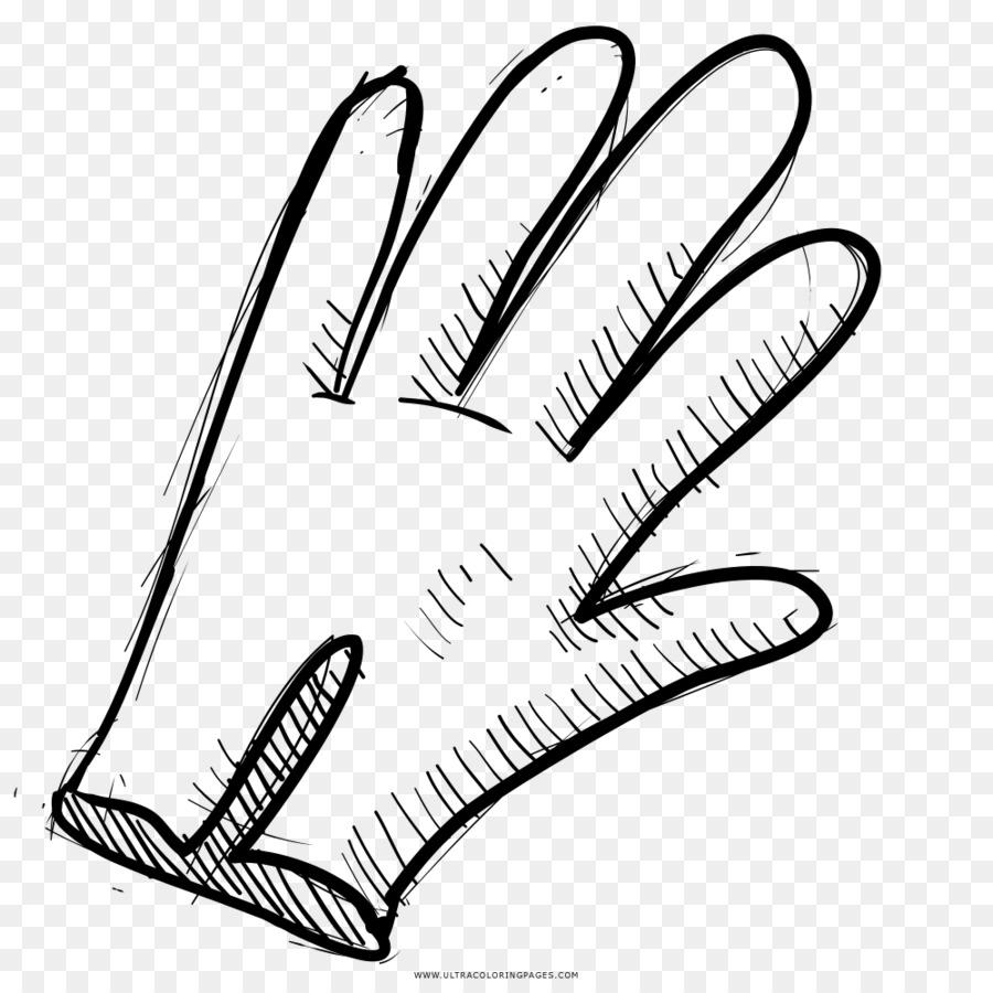 Gambar Sarung Tangan Hitam Dan Putih Gambar Png