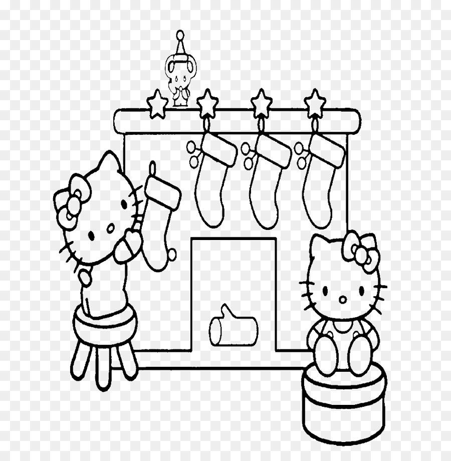 Buku Mewarnai Hello Kitty Natal Gambar Png