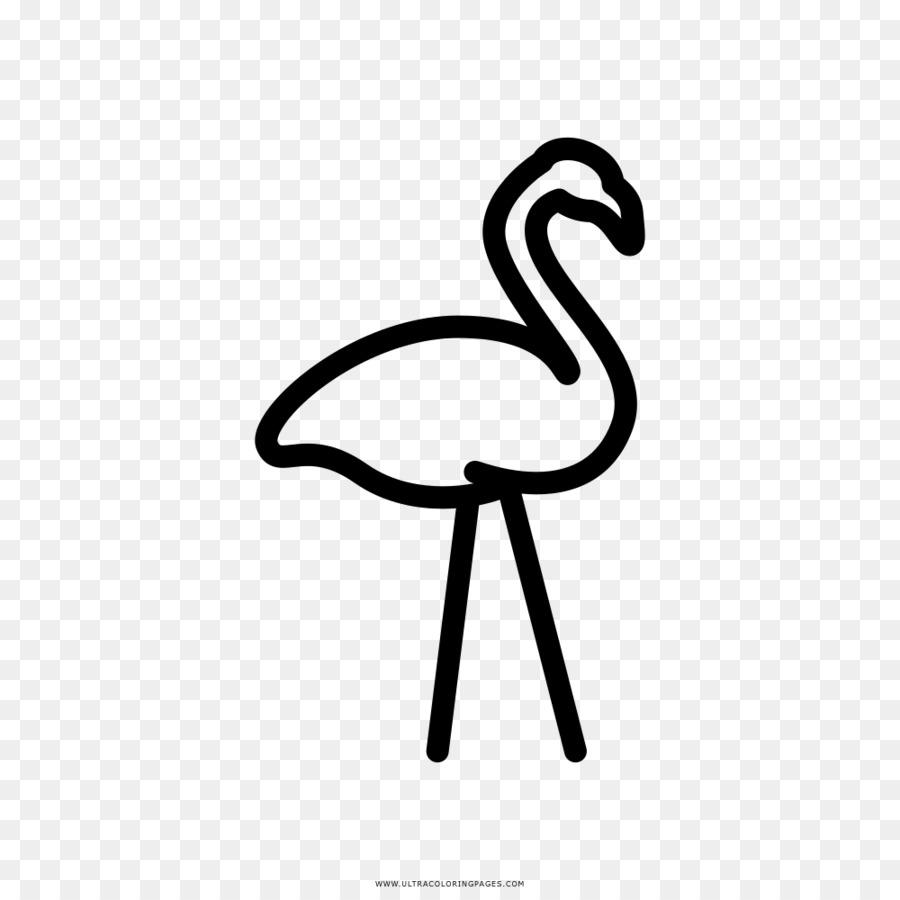 Gambar Flamingo Buku Mewarnai Gambar Png