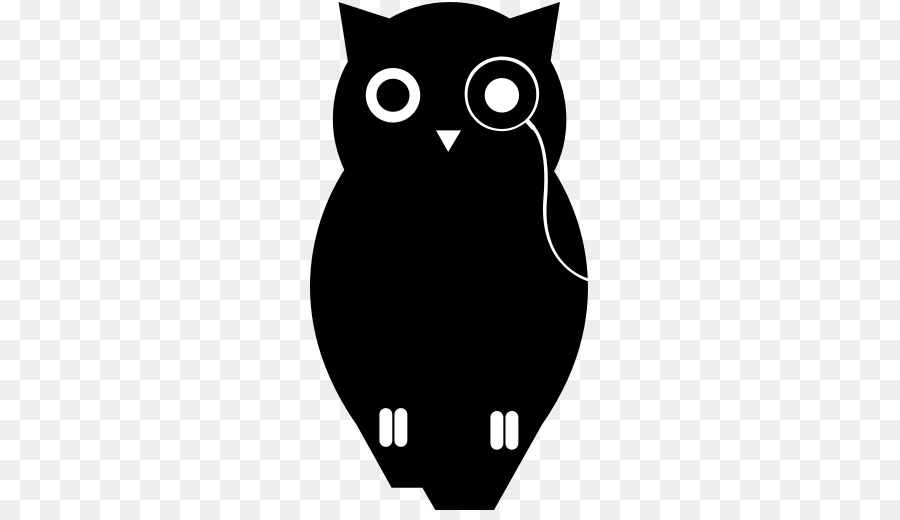 Burung Hantu Kucing Desain Grafis Gambar Png