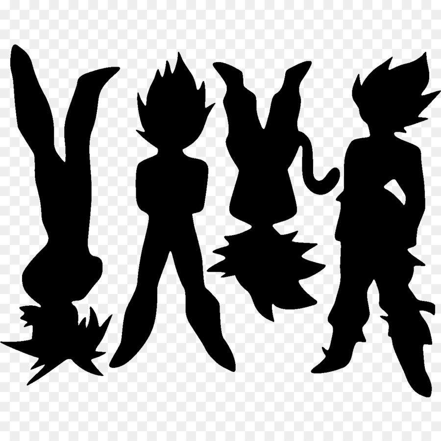 Goku gohan siluet gambar png