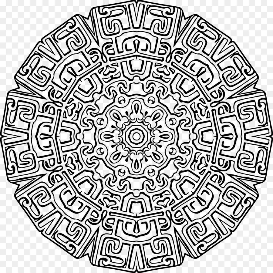 Buku Mewarnai Mandala Ornamen Gambar Png
