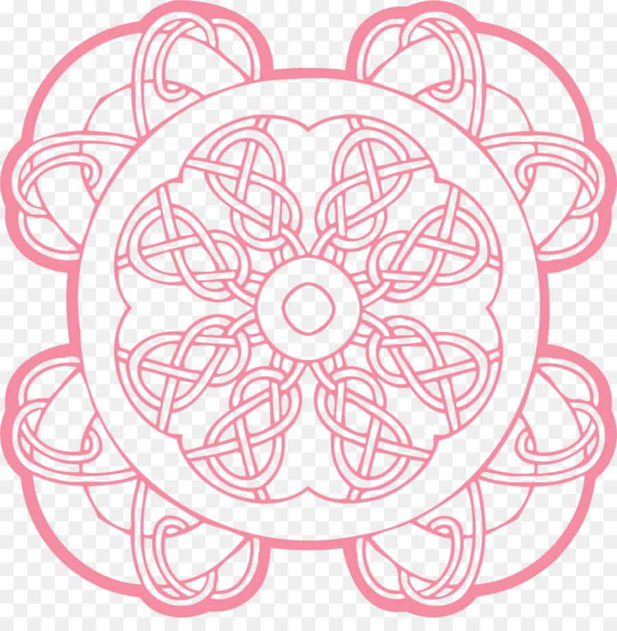 Buku Mewarnai Celtic Ornamen Gambar Png