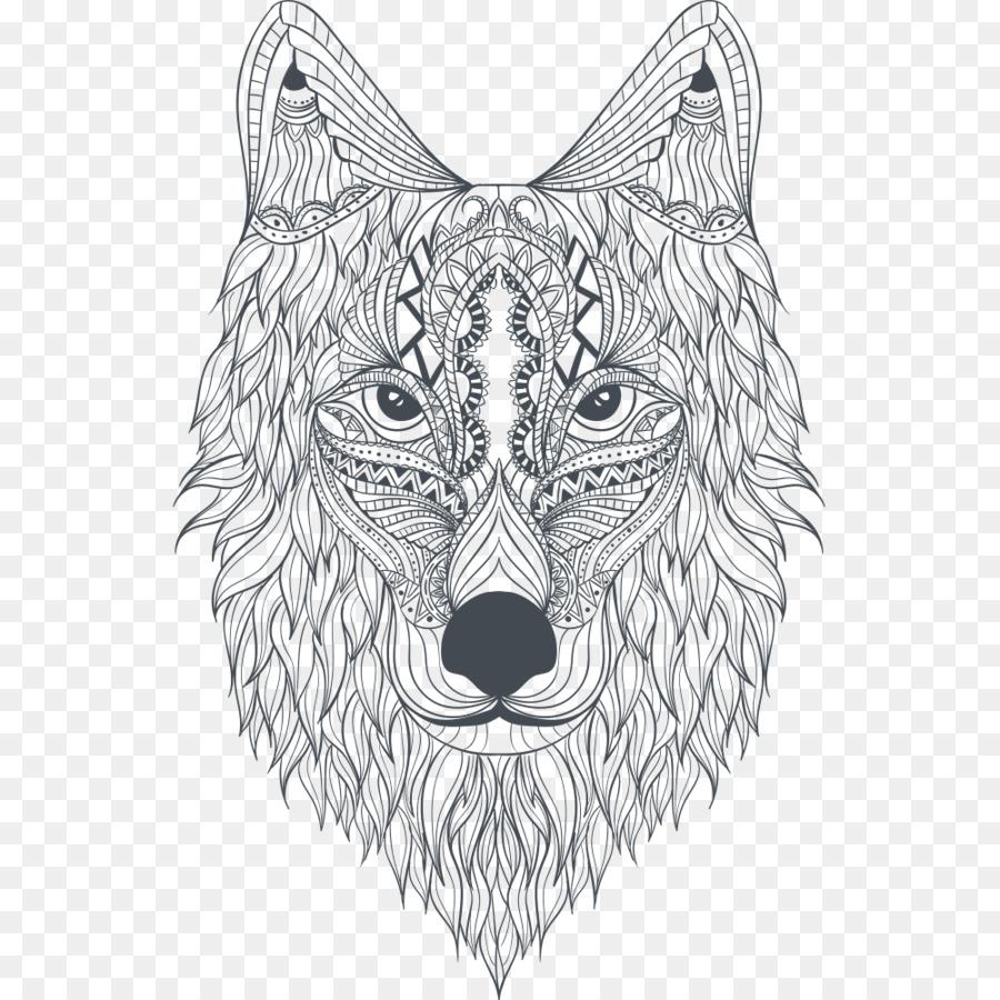 Kebun Binatang Hewan Mewarnai Buku Buku Mewarnai Serigala