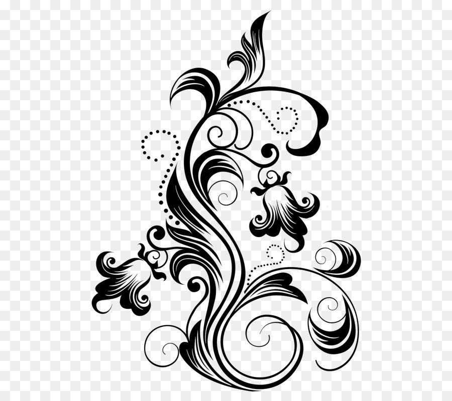 Batik Pola Bunga Gambar Png