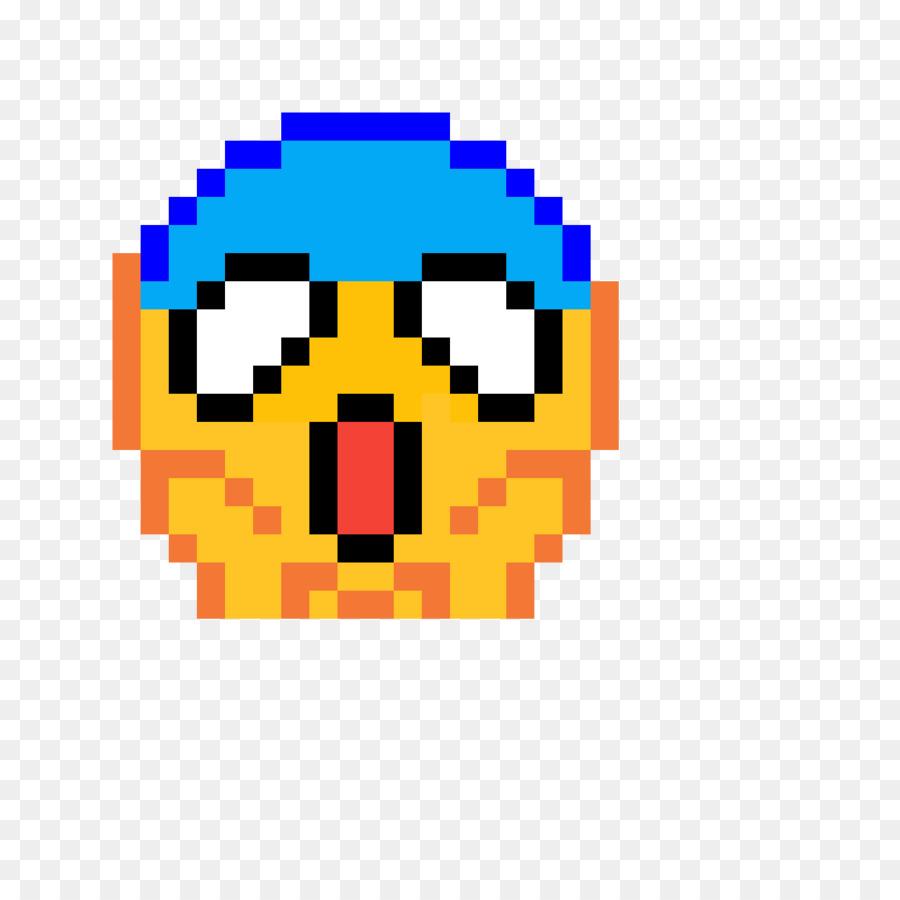 Pixel Seni Emoji Gambar Gambar Png